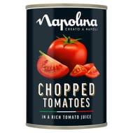 Napolina Chopped Tomatoes 400g. Half Price