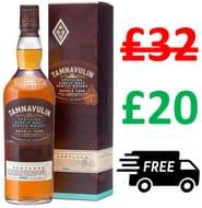 SAVE £12 + FREE DELIVERY - Tamnavulin Speyside Single Malt Scotch Whisky, 70cl