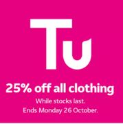 TU Clothing - 25% Off Everything Inc Halloween Costumes + Free C&C At Argos