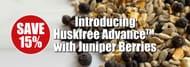 15% off Huskfree Advance with Juniper Berries