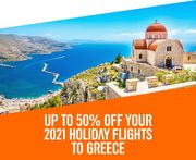 Save up to 50% on Your 2021 Holiday Flights to Greece