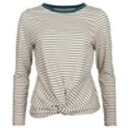 Women's Long Sleeve Tie Front Top - Stripe - Saltrock
