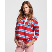 Women's Rugby Shirt Bright Red - GANT