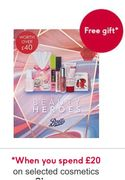 Free Boots Beauty Box Gift, worth £40 When You Spend £20 on Selected Cosmetics