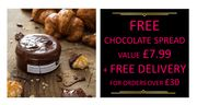 Free Chocolate Spread When You Spend £30 + Free Delivery