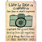 Dorothy Spring Life is like a Camera Cute Inspirational Quote Wall Plaque