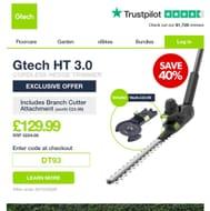 Gtech Long Reach Cordless Hedge Trimmer