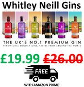 £6 off + FREE PRIME DELIVERY - Whitley Neill Gins, 70 Cl