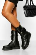 Calf High Chunky Hiker with Detachable Pouch