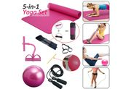 CHEAP! 1/ 4pcs Home Exercise Kit Yoga Mat Pilates Ball Ankle Puller Rope Set
