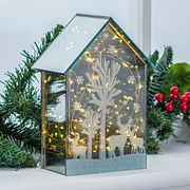 Battery Operated Led House Christmas Decoration