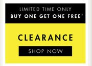 Best Price! Buy One Get One Free on Clearance Items