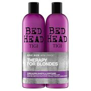 Bed Head by Tigi Dumb Blonde Hair Shampoo and Conditioner, 2 X 750ml