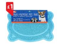 Multi-Purpose Paw Dog Mat in Blue