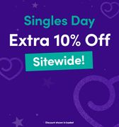 Singles Day 10% Off