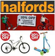 Special Offer - 20% off Kids Bikes and Scooters at HALFORDS