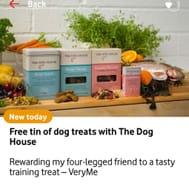 Free Tin of Dog Treats with the Dog House VERYME REWARDS
