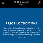 Village Hotel Rooms from £29