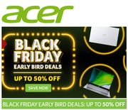 Special Offer - Acer - Black Friday Prices - Available Now