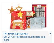 25% off All XMAS  Decorations , gift Bags And More