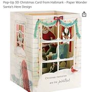 Pop-up 3D Christmas Card from Hallmark - Paper Wonder Santa's Here Design