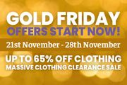 Save up to 65% on Clothing + More Fantastic Offers.
