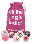Bomb Cosmetics All the Jingle Ladies Handmade Hessian Sack Bath Blaster Gift!