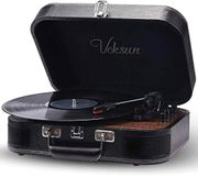 Record Player, VOKSUN Vintage Turntable 3-Speed 33/45/78 RPM Record Player