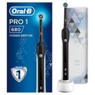 Oral-B Pro 1 680 Black Electric Toothbrush & Bonus Travel Case