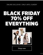 70% off Everything at Mango Outlet - Black Friday Sale