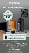 Nespresso Vertuoplus Coffee Machine and 100 Capsules £59 (Usually £250)