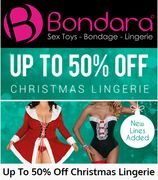 'TIS THE SEASON TO BE HORNY.... Save up to 50% off CHRISTMAS LINGERIE!