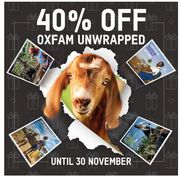 Up To 40% Off This Weekend At Oxfam's Online Shop