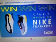 Win a Pair of Personalised Nike Trainers