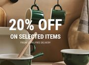 Today Only! 20% off on Selected Items