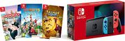 Nintendo Switch Neon Console + Sports Party + Rayman Legends + Monopoly