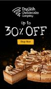 Up to 30% off Cakes on Our Website