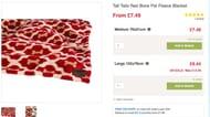 Tall Tails Red Bone Pet Fleece Blanket