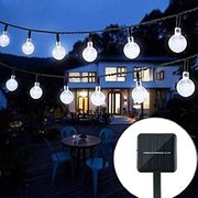Lightning Deal! Solar String Lights Garden, 24 Ft 30 LED Balls