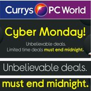 CURRYS - CYBER MONDAY DEALS - Ends Midnight Tonight!