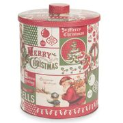 Christmas Print Metal Box