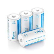 DEAL STACK - POWXS D Cell Rechargeable Batteries + 10% Coupon