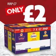 Box of 3 X Quavers, 2 X Monster Munch & 2 X Wotsits - £1 PMP Large Bags