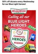 50% off Krispy Kreme Dozens Every Wednesday with a Blue Light Card