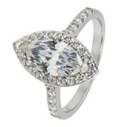 Sterling Silver Cubiz Zirconia Ring - Only £9.99!