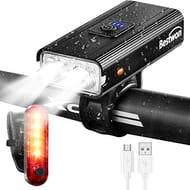 Bestwon Bike Light Set - 1000 Lumens Super Bright Rechargeable Bicycle Light