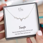 Personalised Silver Reindeer Necklace £9.99 + £1.99 Delivery (Was £35)