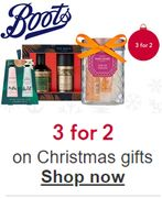 3-for-2 Christmas Gift Deals at Boots - Mix & Match 900+ Christmas Gifts!