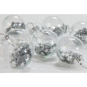 Argos Home Winters Cabin Silver Shaker Baubles - 12 Pack