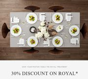 Our Royal Collection with a 30% Discount